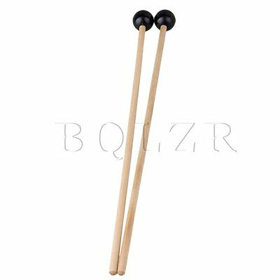 Pair Xylophone bell & unwood Mallets,Soft Plastic head for warm sound