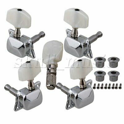 5pcs Semiclosed Banjo Machine Head Tuning Tuner Peg w/ Bushing Guitar Parts