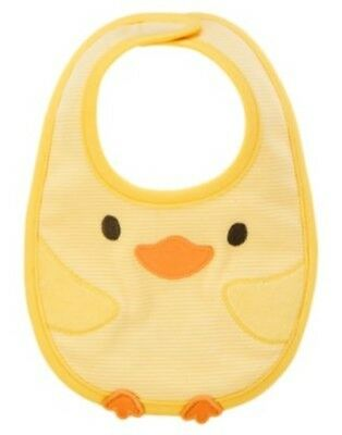 Gymboree Brand New Baby Yellow Ducklings Reversible Unisex Bib Nwt-Ot