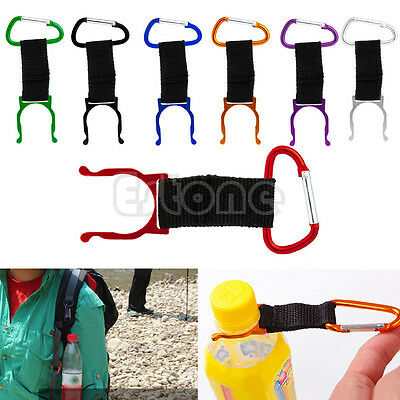 5pcs Water Bottle Buckle Hook Holder Clip For Outdoor Camping Hiking Traveling