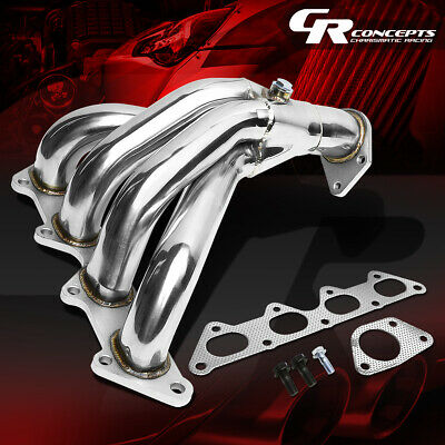 01-05 ECLIPSE 3G BASE RS//GS 4 CYL STAINLESS STEEL EXHAUST CHROME HEADER+GASKET