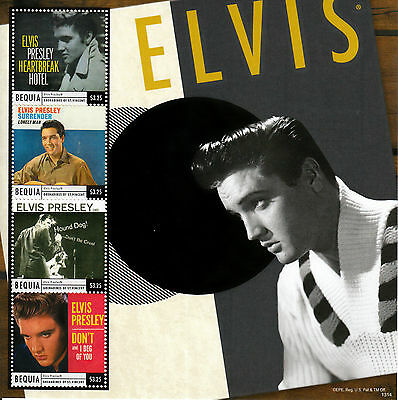 Bequia Grenadines St Vincent 2013 MNH Elvis Presley Classic Hits 4v MS Hound Dog