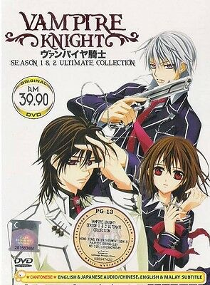 DVD Vampire Knight Season 1+2 English Dubbed + Bonus Anime DVD+ Free Tracking