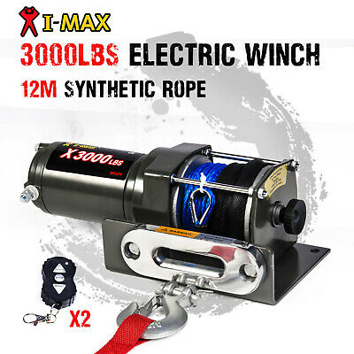 12V Wireless 3000LBS / 1361KGS Electric Winch Synthetic Rope for ATV 4WD BOAT