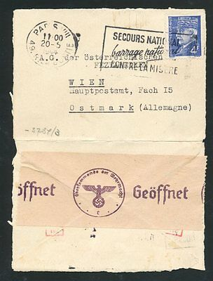 """8087) Argentina 1944, Censor-Letter To Germany, German """"zensur""""-Label With Hand-"""