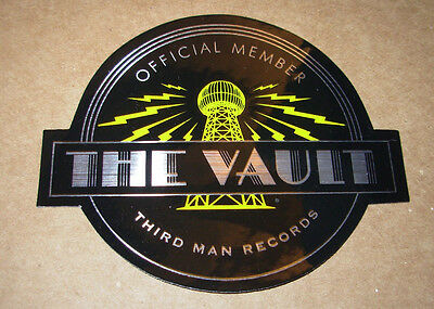 THIRD MAN RECORDS Sticker VAULT MEMBER decal New Stripes Jack White