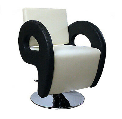 Cream and Black Salon Chair Styling Fashion Barber Hairdressing
