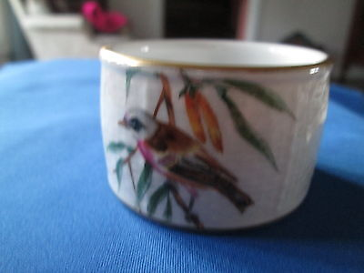 Herend NAPKIN RING  Bird, Floral,Insect