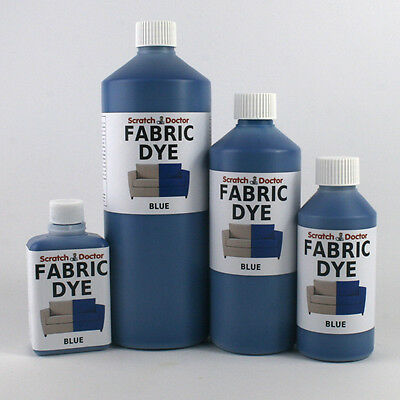 BLUE Liquid Fabric Dye for Sofa, Clothes, Denim, Upholstery etc. ALL SIZES