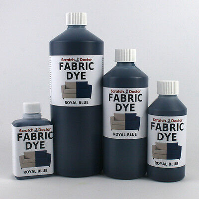ROYAL BLUE Liquid Fabric Dye for Sofa, Clothes, Denim, Upholstery etc. ALL SIZES