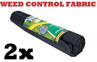 2 x Rolls 10M x 1M Weed Control Fabric Paving Decking Landscape Under Paving New