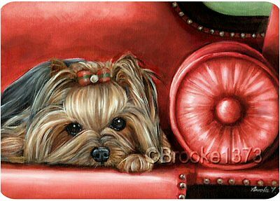 Yorkshire Terrier mousepad Yorkie dog ART mouse pad