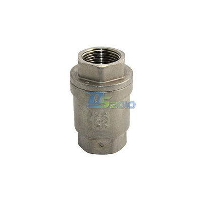 "3/4"" Check Valve WOG 1000 Spring Loaded In-line Stainless Steel SS316 CF8M NPT"