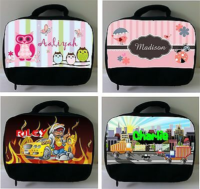 PERSONALISED Lunch BAG School Kinder Snack Box Custom printed your design LOT1