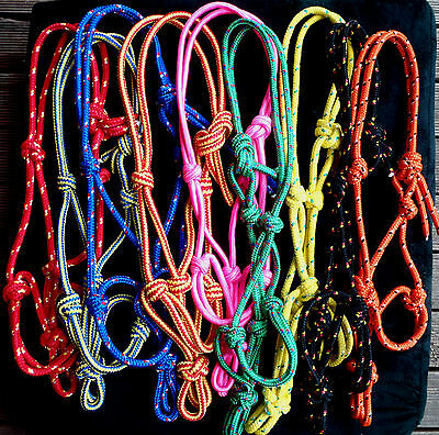 Horse rope halter lead sets Mini ,Shetland,Pony,Cob,Full,Draft