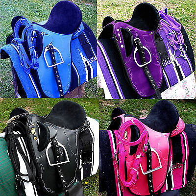 Stock saddles all sizes&colors  fully mounted +bridle,bit and saddle blanket