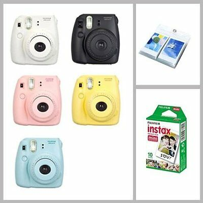 Fujifilm Fuji Instax Mini 8 Polaroid Instant Camera + 10 Film + Photo Album