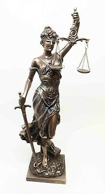 """Greek Decorative Lady Justice Standing Holding Sword and Scale Statue Dike 13""""H"""