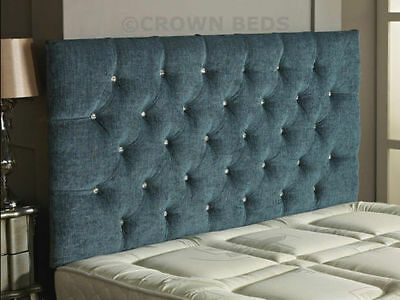 CHESTERFIELD DIAMONTE BUTTON HEADBOARD IN 2ft5,3ft,4ft,4ft6,5ft,6ft !!!!NEW!!!!