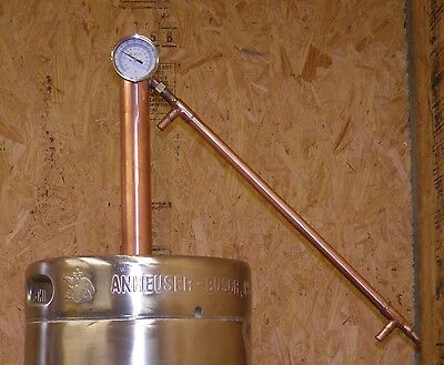 Beer Keg Moonshine Still Kit, Copper Whiskey Column, Tower, Head, with book