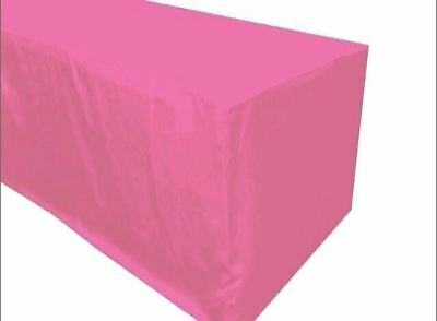 5' ft. Fitted Polyester TABLE COVER Tablecloth Trade show Booth event Party Pink