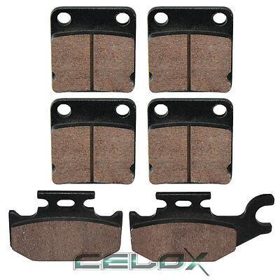 Front Rear Brake Pads For Yamaha Kodiak 450 YFM450 2003 2004 2005 2006
