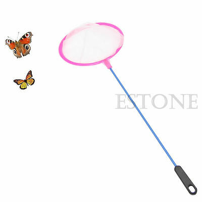 1x  Kids Extendable Fishing Butterfly Insect Net Telescopic Handle Toy