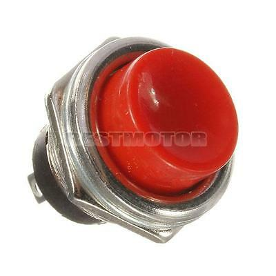 Car Ignition Momentary Push Button Switch 3A 125V OFF-ON Horn SPST Starter Red