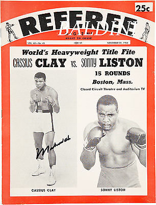 Muhammad Ali V Sonny Liston Rare Vintage Signed Poster Print - Get Your's Now!