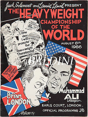 Muhammad Ali V Brian London - Rare Vintage 1966 Poster Print - Get Your's Now!