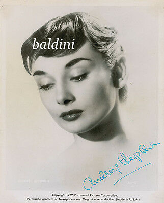 Audrey Hepburn Signed Autograph 10X8 Photo,  Great Studio Shot Image