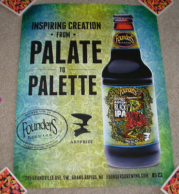 FOUNDERS BREWING Cool Poster INSPIRED ARTIST Label Art craft beer brewery