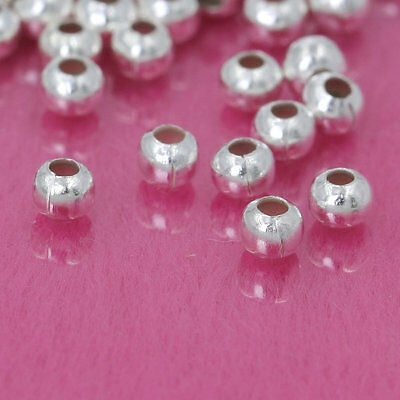 Wholesale Lots Silver Gold Bronze Gunmetal Plated Round Spacer Beads