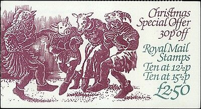 Complete Unexploded Christmas 1982 Stamp Booklet Great Britain #Bk802