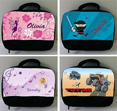 PERSONALISED Lunch BAG School Kinder Snack Box Custom printed your design LOT2