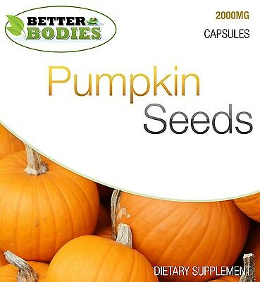Pumpkin Seed Capsules 2000mg HIGH Strength Mens Male Health Prostate Support UK