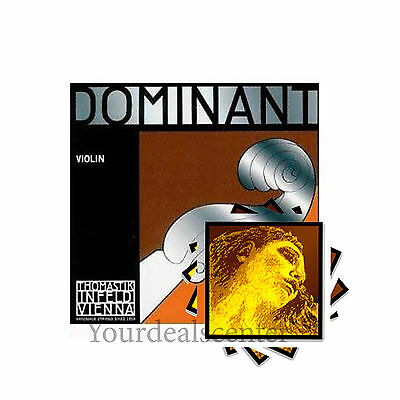 "^ Dominant Violin String set with "" Evah Pirazzi GOLD "" Steel  E Ball"