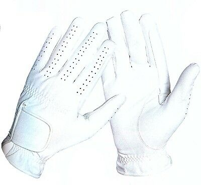 Horse Riding Gloves - Synthetic - White