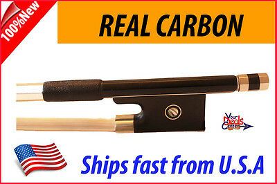 New Genuine Carbon Fiber Violin Bow 4/4 --Black