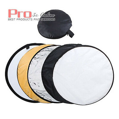 "32"" 80cm 5-In-1 Foldable Collapsible Reflector Modifier for Photo Studio"
