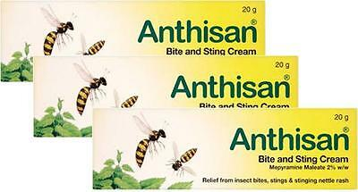 Anthisan Cream Insect Bite & Sting Relief 20g TRIPLE PACK- For Adults & Children