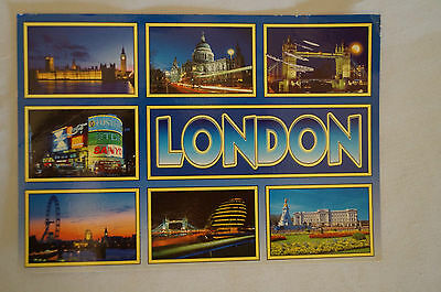London - England - Sights - Collectable  - Postcard.