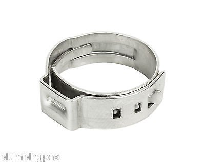 "Pex Oetiker Stainless Steel Crimp Cinch Ring 3/8"" - Lot of 500"