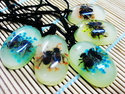 5PCS REAL LOVELY BEE&FLOWER FINE MIX COLOR NICE PENDANT CUTE SUPER JEWELRY