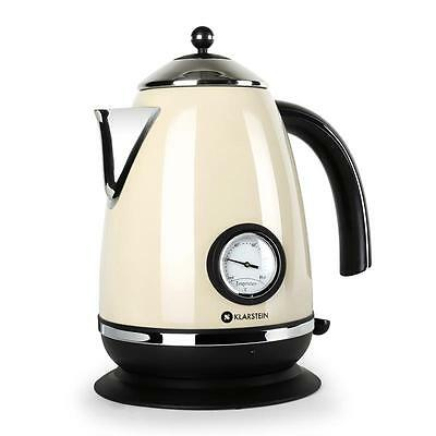 Fast Boil 1.7L L 2200 W Electric Tea Kettle Stainless Steel Cream Jug Cordless
