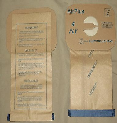 Electrolux Aerus Style C Vacuum Bags Canister Vac Type Tank Multi Filter 4-ply