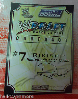 WWE Rikishi Draft Contract Jakks Pacific Accessory for Action Figures WWF