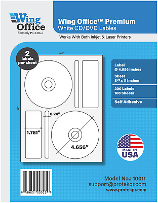PO11 Premium Media CD/DVD Labels Matte Memorex Core Compatible PRO OFFICE