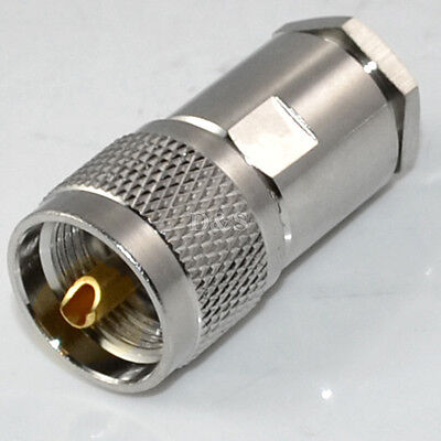 UHF Male PL259 Plug Clamp RG8 RG165 RG213 LMR400 RF Coax cable connector adapter