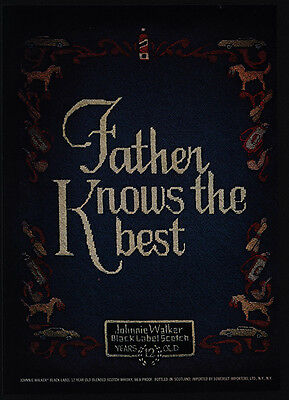 1974 JOHNNIE WALKER Black Label Scotch - Father Knows Best - VINTAGE AD